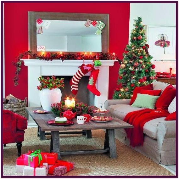 Christmas Decorating Ideas For Living Room Walls