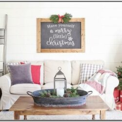 Christmas Living Room Decor White