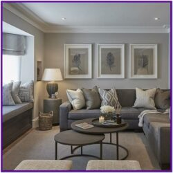 Contemporary Modern Grey Living Room Decor