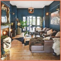 Copper Living Room Theme