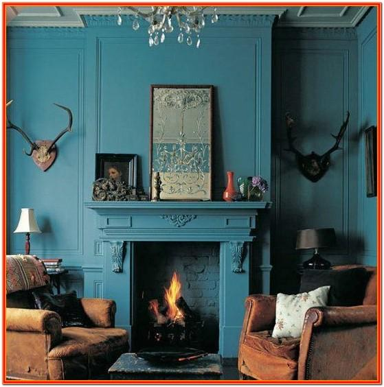 Dark Teal Living Room Decor