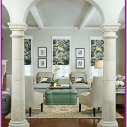 Decorate Column In Living Room