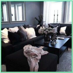 Decorate Small Living Room Black Furniture
