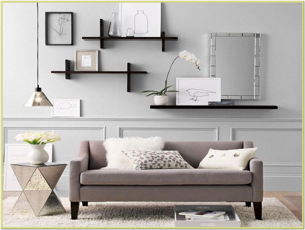 Decorate Wall Shelves Living Room