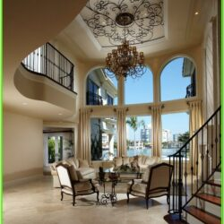 Decorating A Living Room With High Ceilings