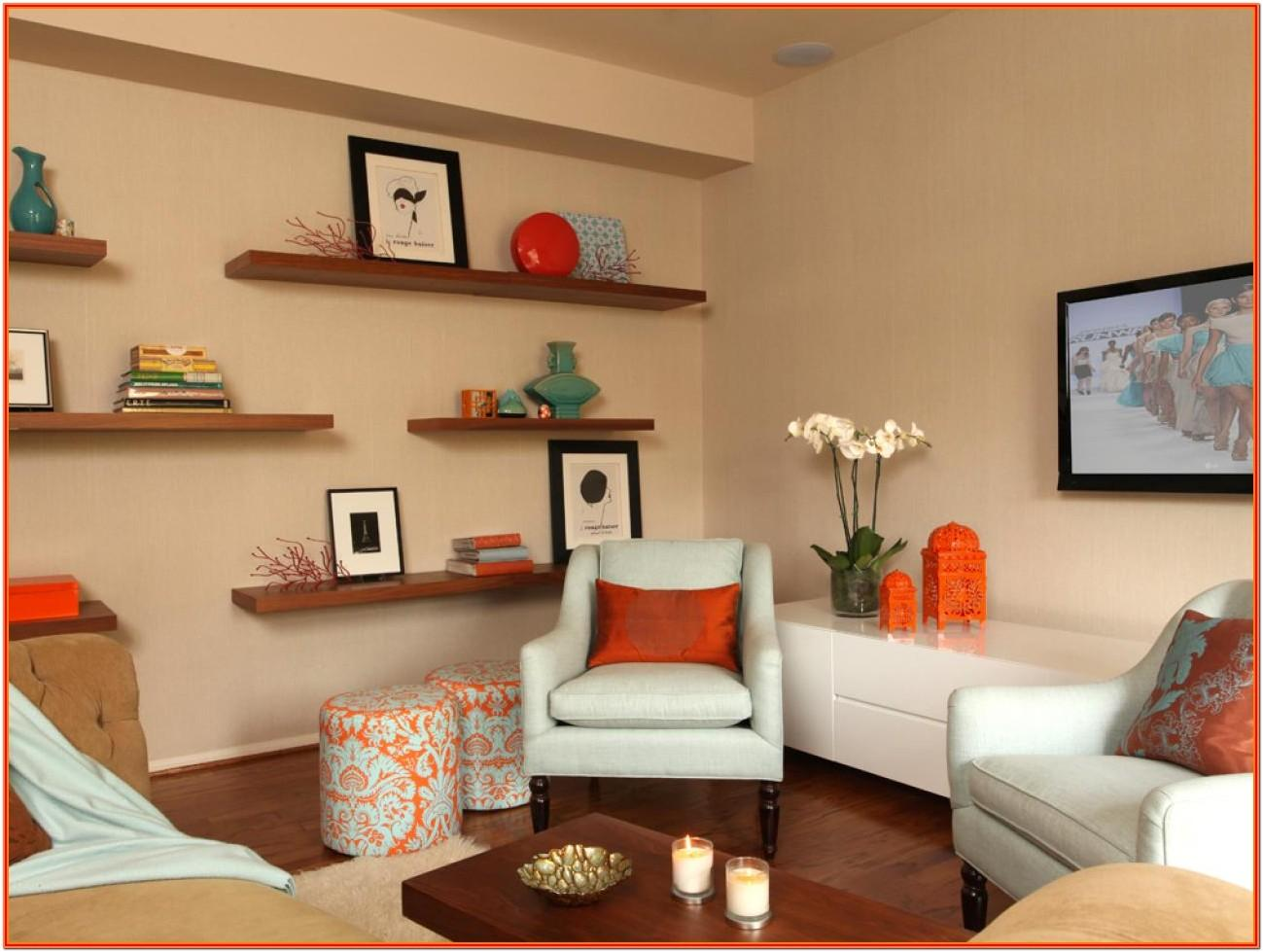 Decorating Ideas For Floating Shelves In Living Room