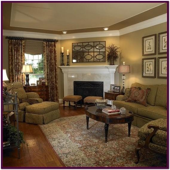 decorating ideas for living room with corner fireplace