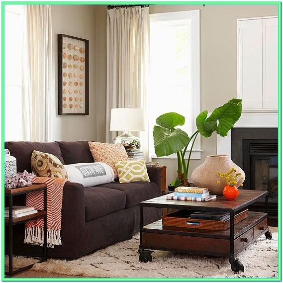 Decorating Ideas For Living Room With Dark Brown Sofa