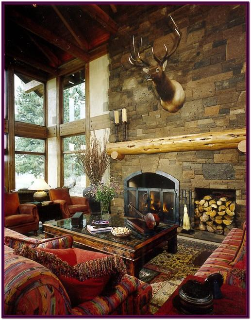 Decorating Ideas For Living Room With Rustic Fireplace