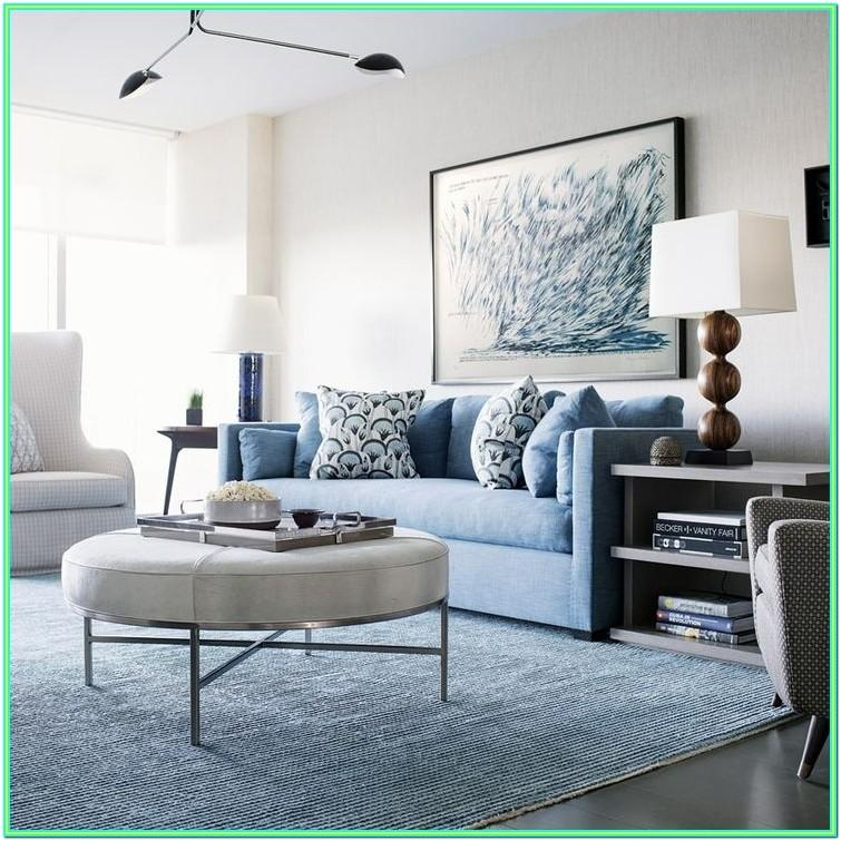 Decorating Living Room Blue Sofa