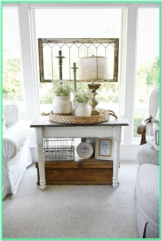Decorating Living Room Side Tables