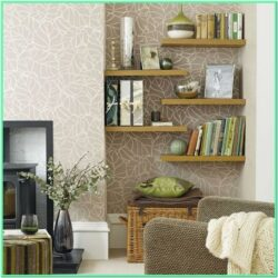 Decorating Living Room Walls With Shelves