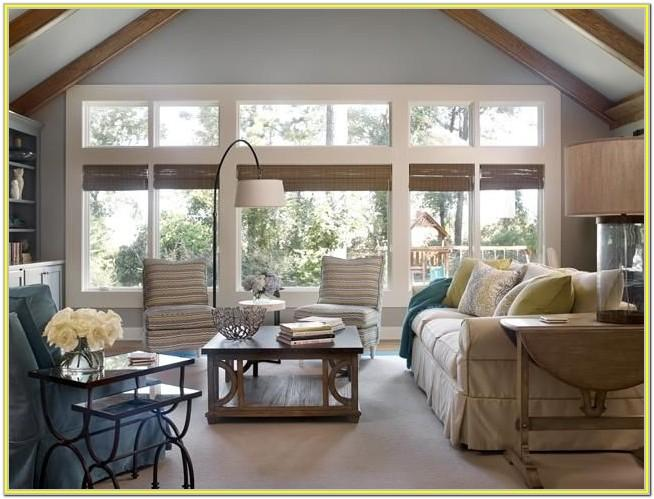 Decorating Living Room With Big Windows