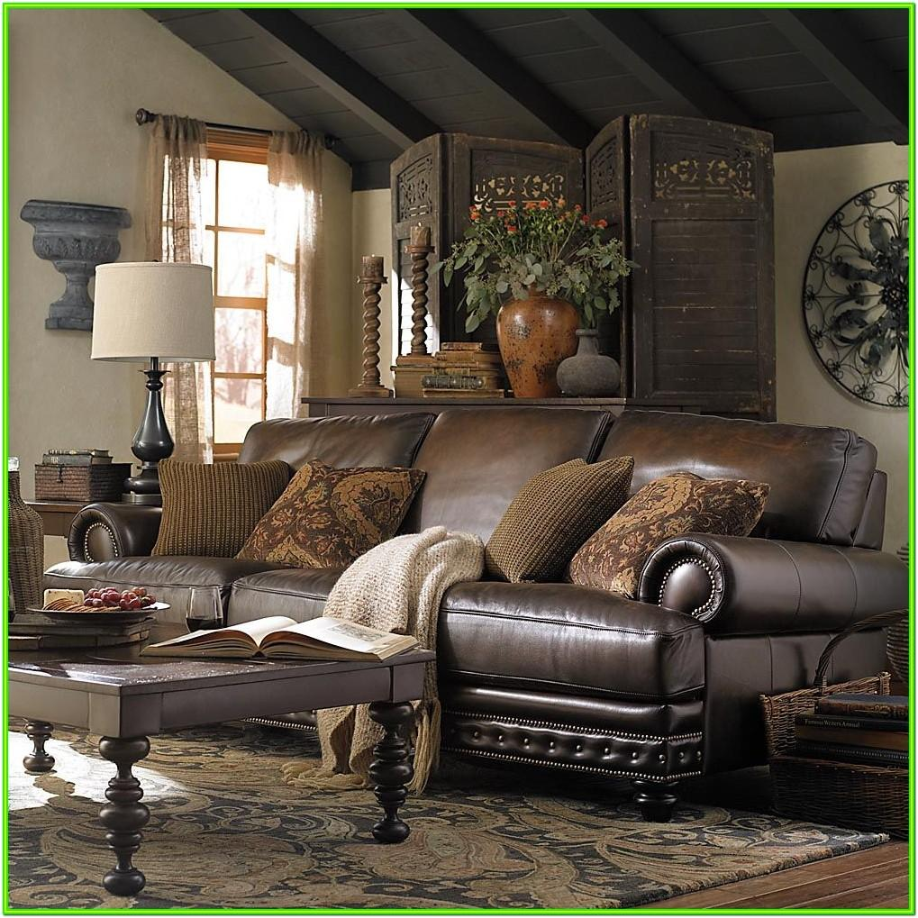 Decorating Living Room With Black Leather Furniture