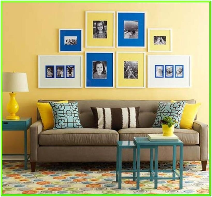 Decorating Living Room With Blue And Yellow