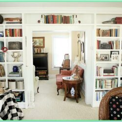 Decorating Living Room With Bookshelves