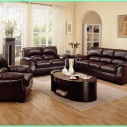 Decorating Living Room With Brown Furniture