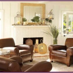 Decorating Living Room With Brown Leather Sofa