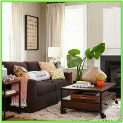 Decorating Living Room With Dark Brown Couches