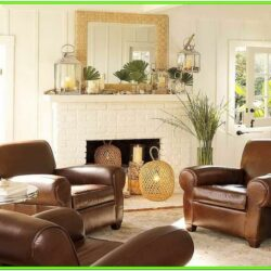 Decorating Living Room With Leather Sofa