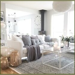 Decorating Living Room With White Couch