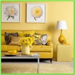 Decorating Living Room With Yellow