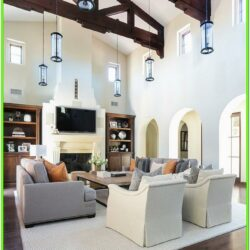 Design Ideas For Living Room With High Ceilings