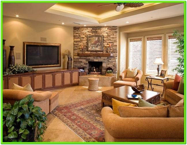 Design Ideas For Small Living Room With Corner Fireplace