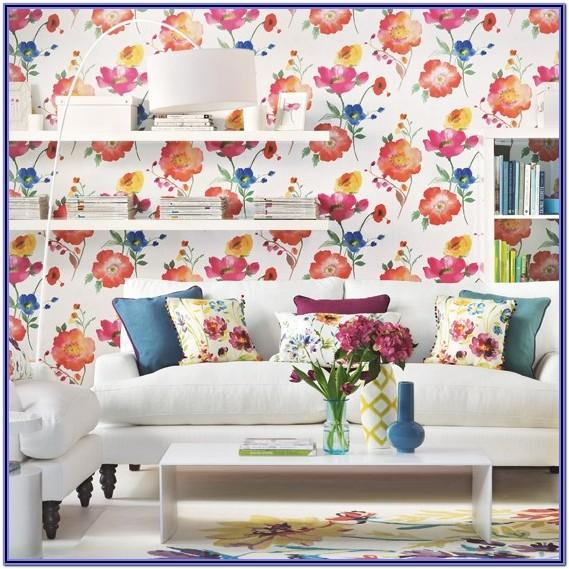 Floral Wallpaper Living Room