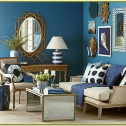 Gold And Blue Living Room Decor