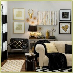 Gold Living Room Decor