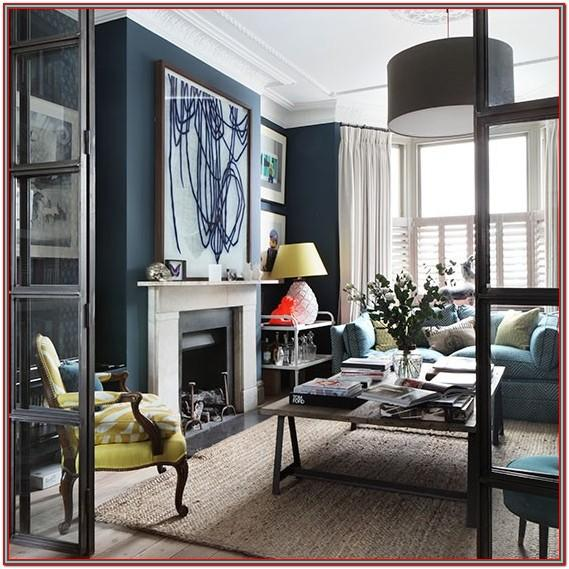 Gray And Navy Blue Living Room Decor
