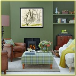 Green And Brown Living Room Walls