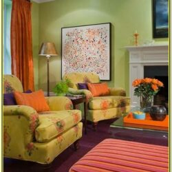 Green And Orange Living Room Decor