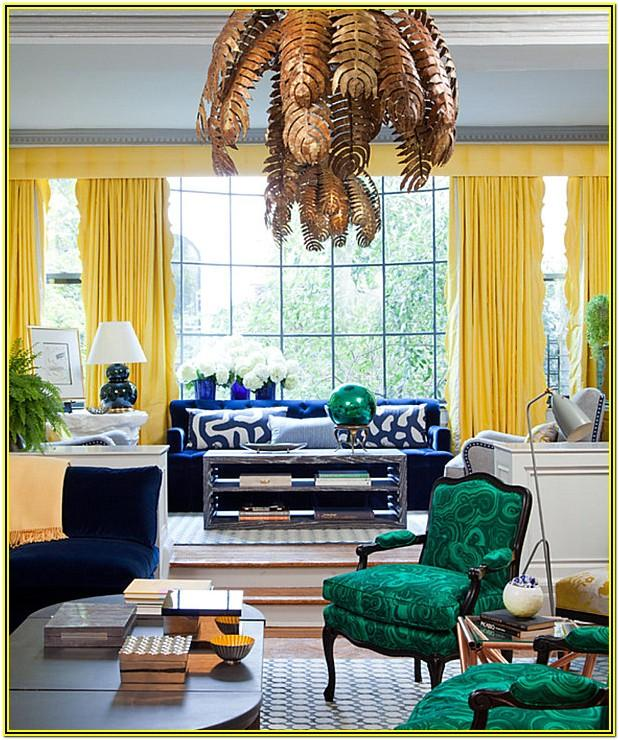 Green And Yellow Living Room Decor