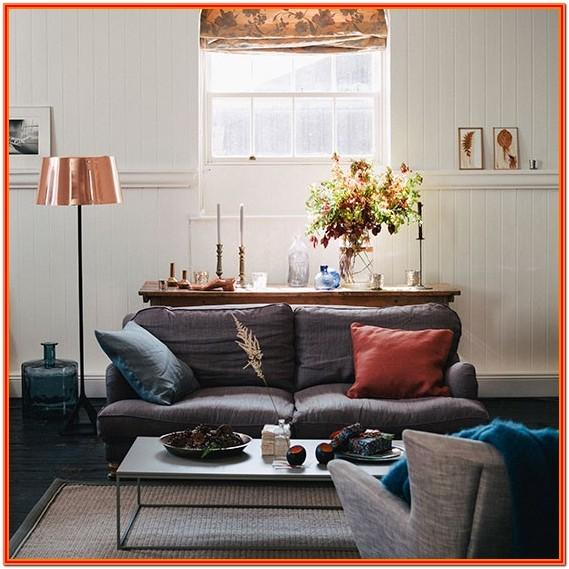 Grey And Copper Living Room Decor