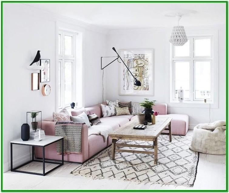 Grey And Rose Gold Living Room Decor