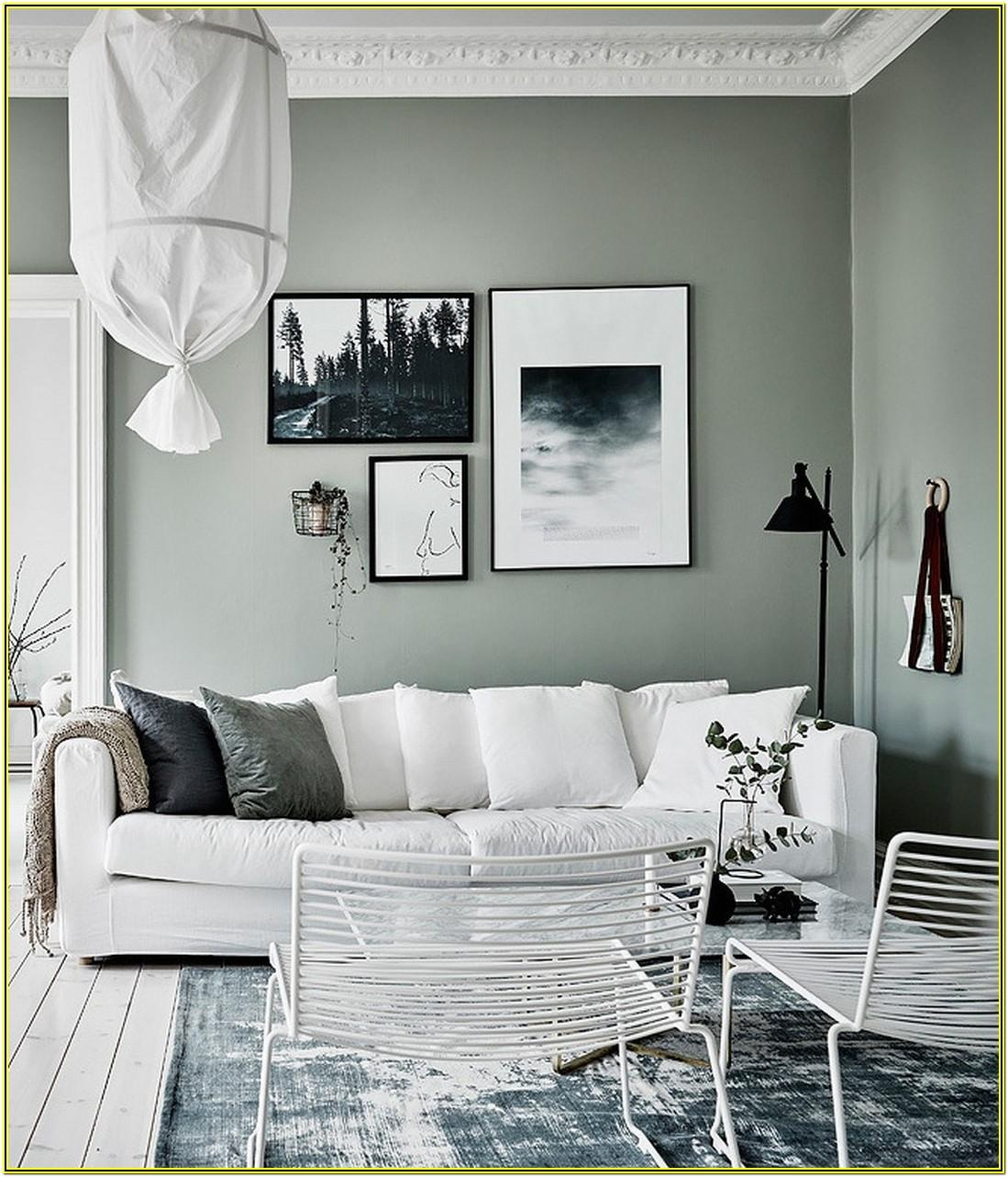 Grey And White Living Room Interior