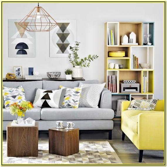 Grey And Yellow Living Room Decorations