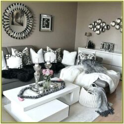 Grey Black And White Living Room Decor