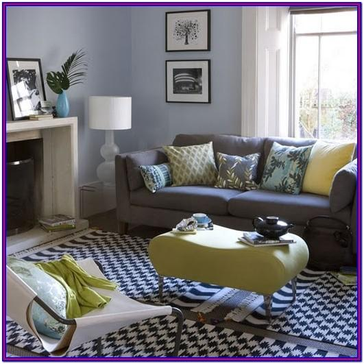 Grey Black Blue Living Room Decorating