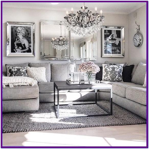 Grey White And Black Living Room Decor