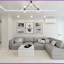 Grey White Living Room Decor
