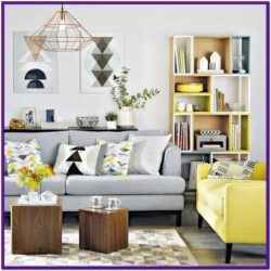 Grey Wood Floors Living Room Decor