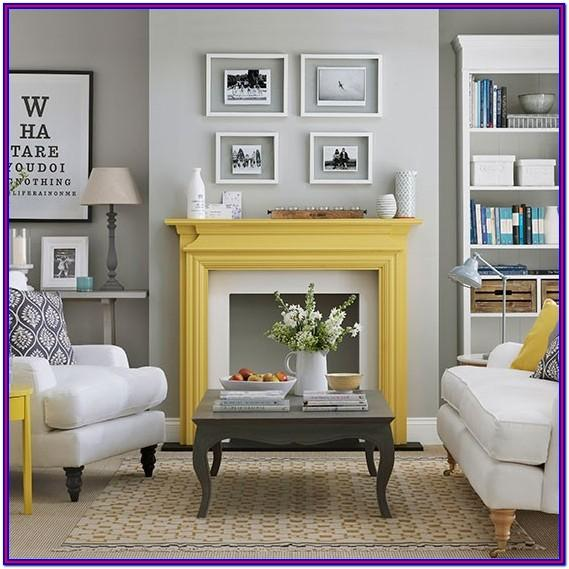 Grey Yellow Living Room Decor