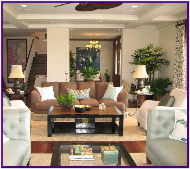 Hawaiian Tropical Living Room Decor
