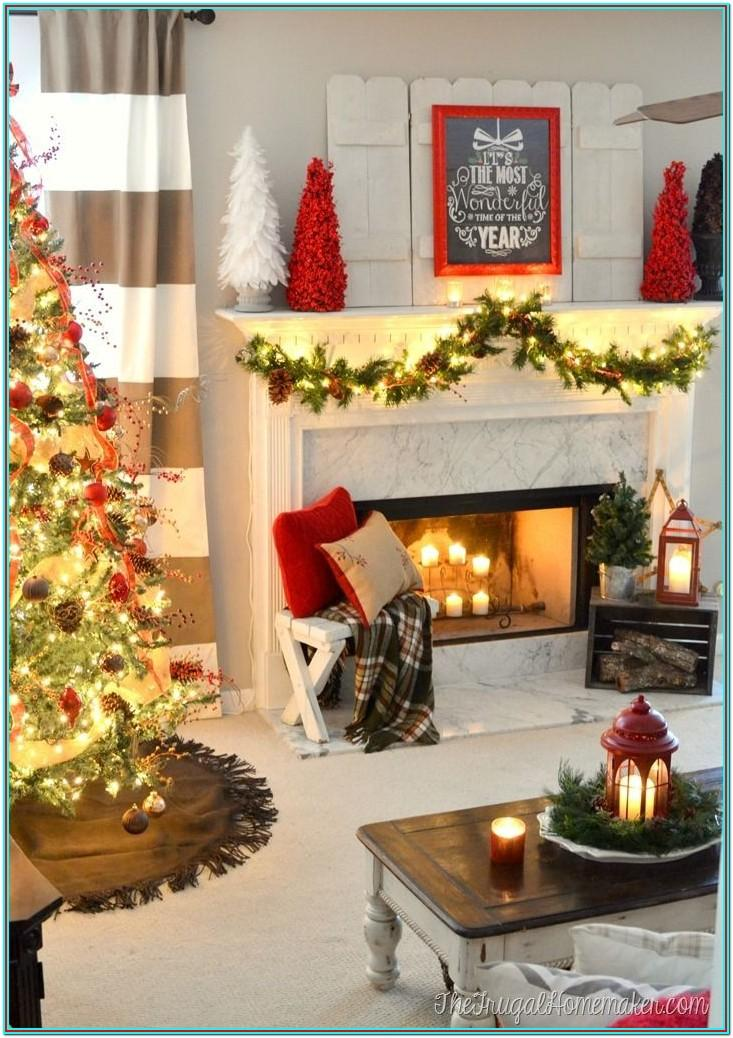 House Living Room Xmas Decor Ideas