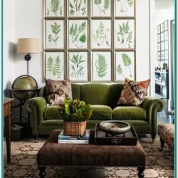 Hunter Green Living Room Decor
