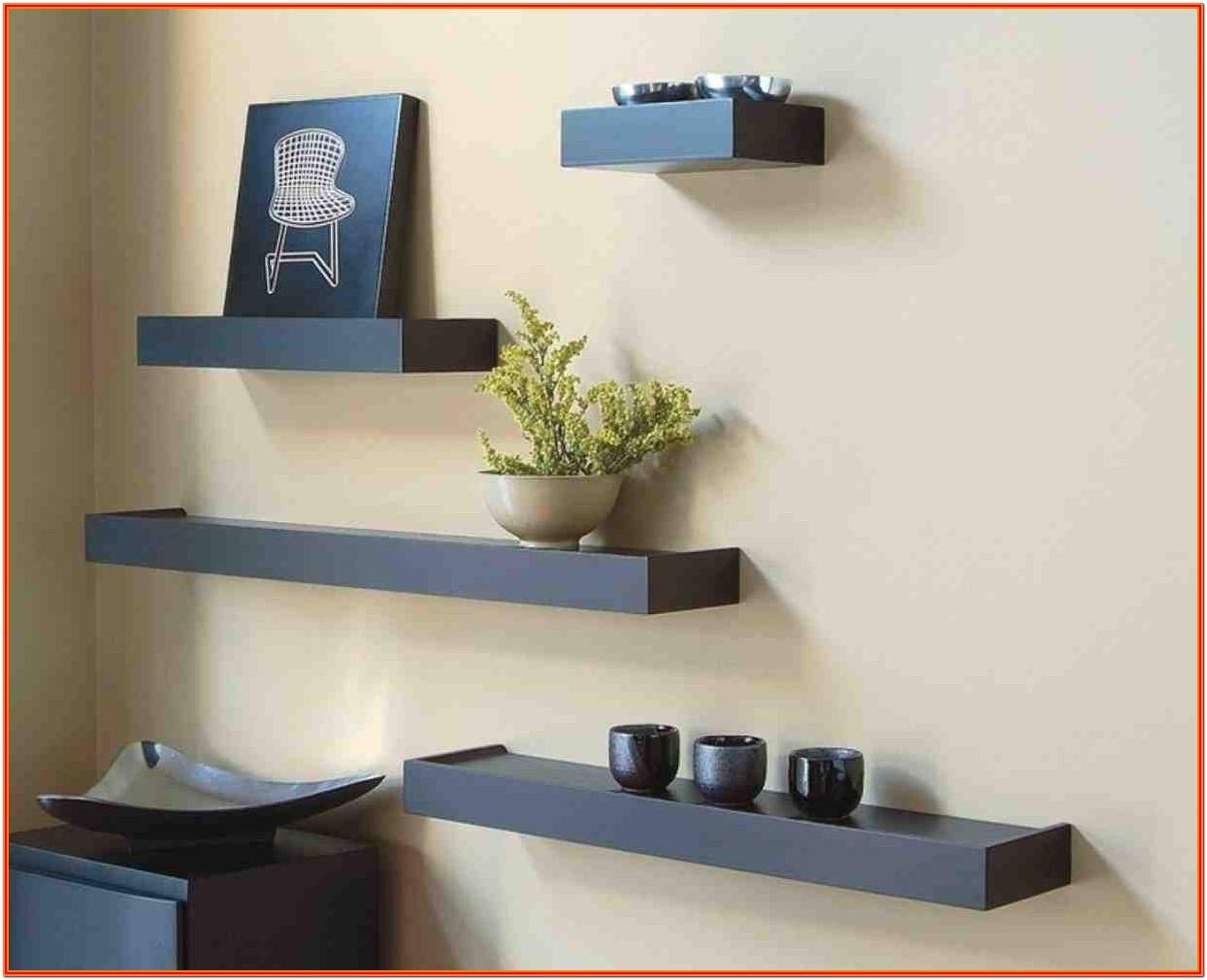 Ideas For Wall Shelves In Living Room