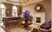 Interior Decorating Living Room Purple